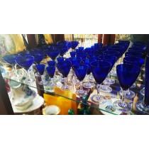 Conjunto taças azuis
