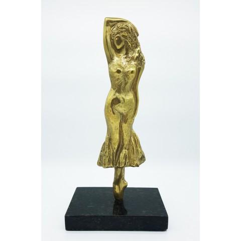 Escultura de bailarina em bronze