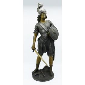 """Escultura em bronze """"O guardião"""" de J. Garnier"""